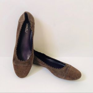 VANELi Brown and Copper Suede Like Flats Size 8